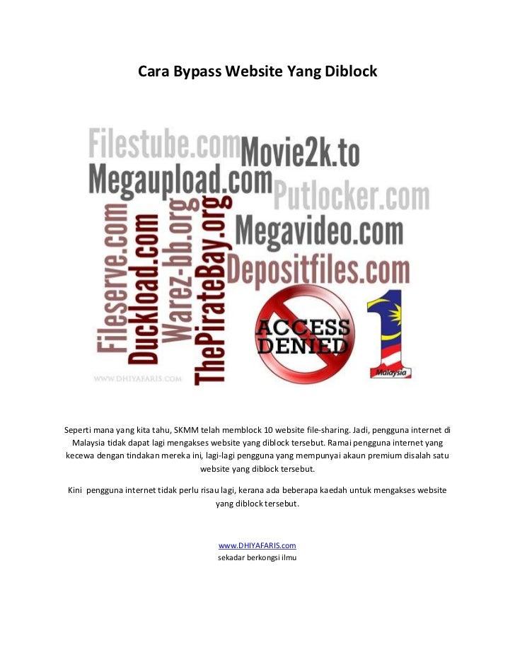 Cara bypass website yang diblock