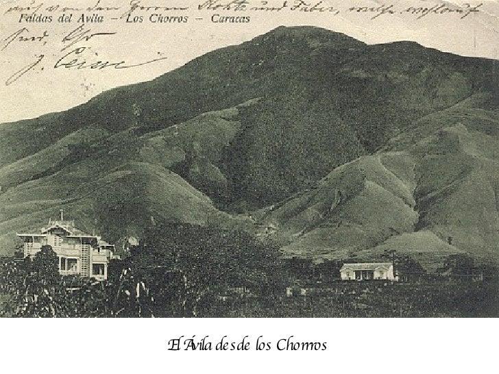 El Ávila desde los Chorrros