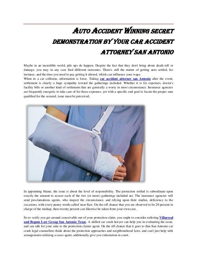 Car accident attorney san antonio s winning secret