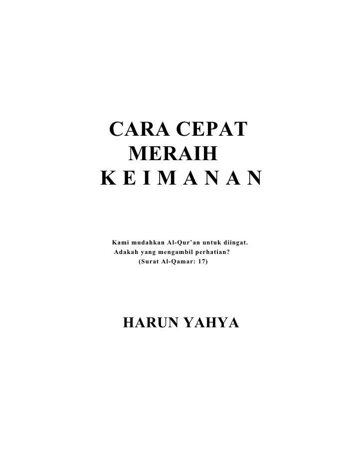 Buku Harun Yahya : Cara cepat meraih keimanan