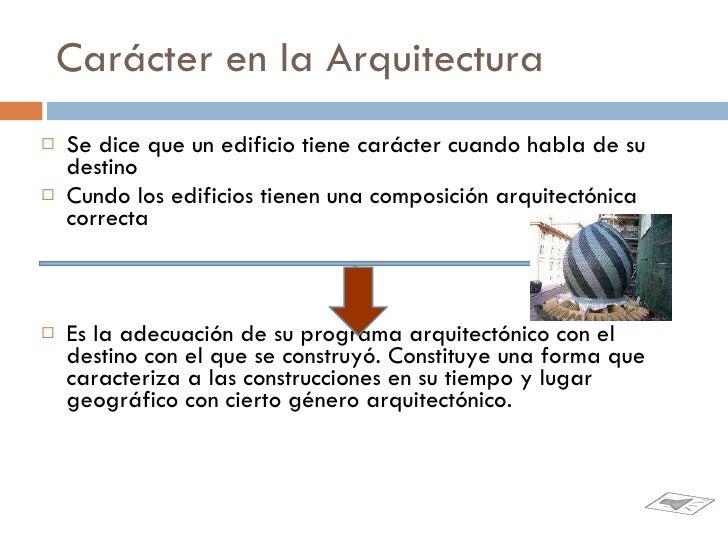 Car cter arquitectonico for Que es arquitectonico wikipedia