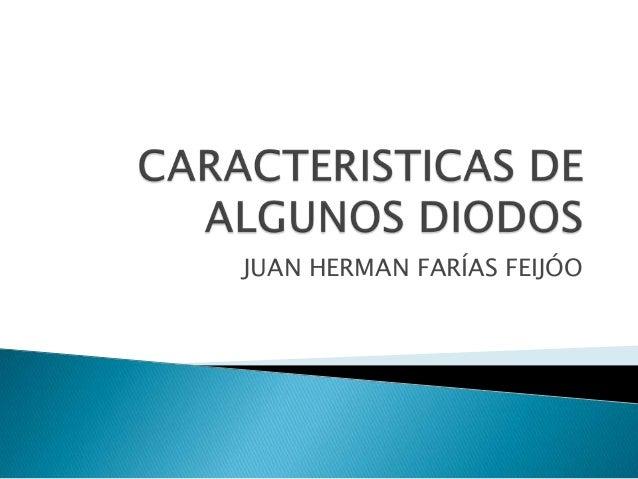 diodos caracteristicas: