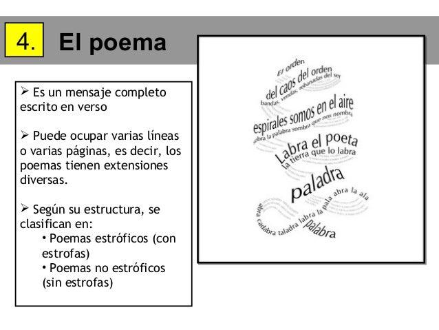en poemas estróficos con estrofas poemas no estróficos sin estrofas