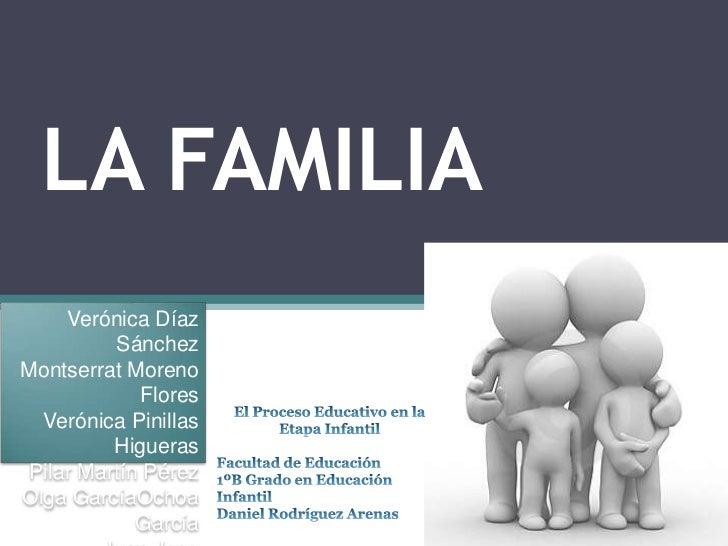 LA FAMILIA     Verónica Díaz          SánchezMontserrat Moreno             Flores  Verónica Pinillas          Higueras Pil...