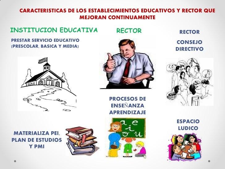 Caracteristicas De Los Establecimientos Educativos