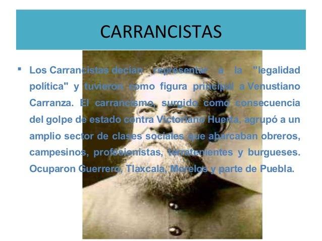 Caracteristicas de los villistas, zapatistas y carrancistas