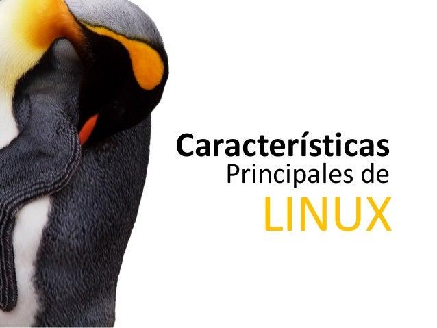 Características  Principales de  LINUX