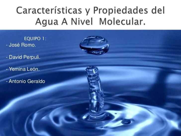 Caracteristicas y propiedades del agua a nivel molecular for Marmol caracteristicas y usos