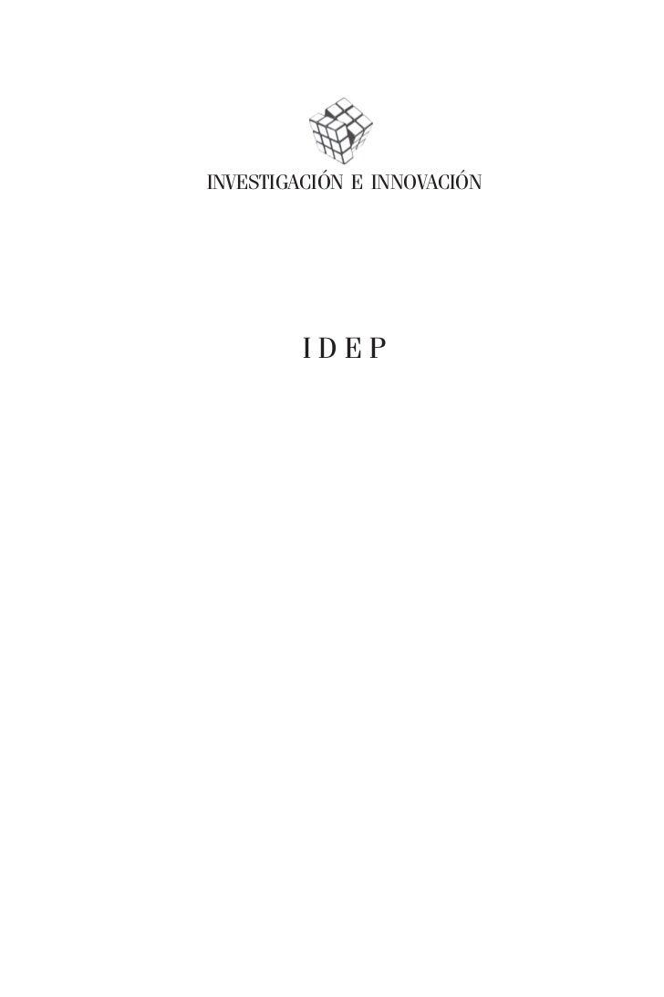 INVESTIGACIÓN E INNOVACIÓN         IDEP