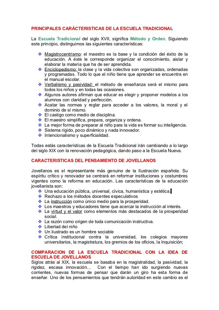 PRINCIPALES CARÁCTERISTICAS DE LA ESCUELA TRADICIONALLa Escuela Tradicional del siglo XVII, significa Método y Orden. Sigu...