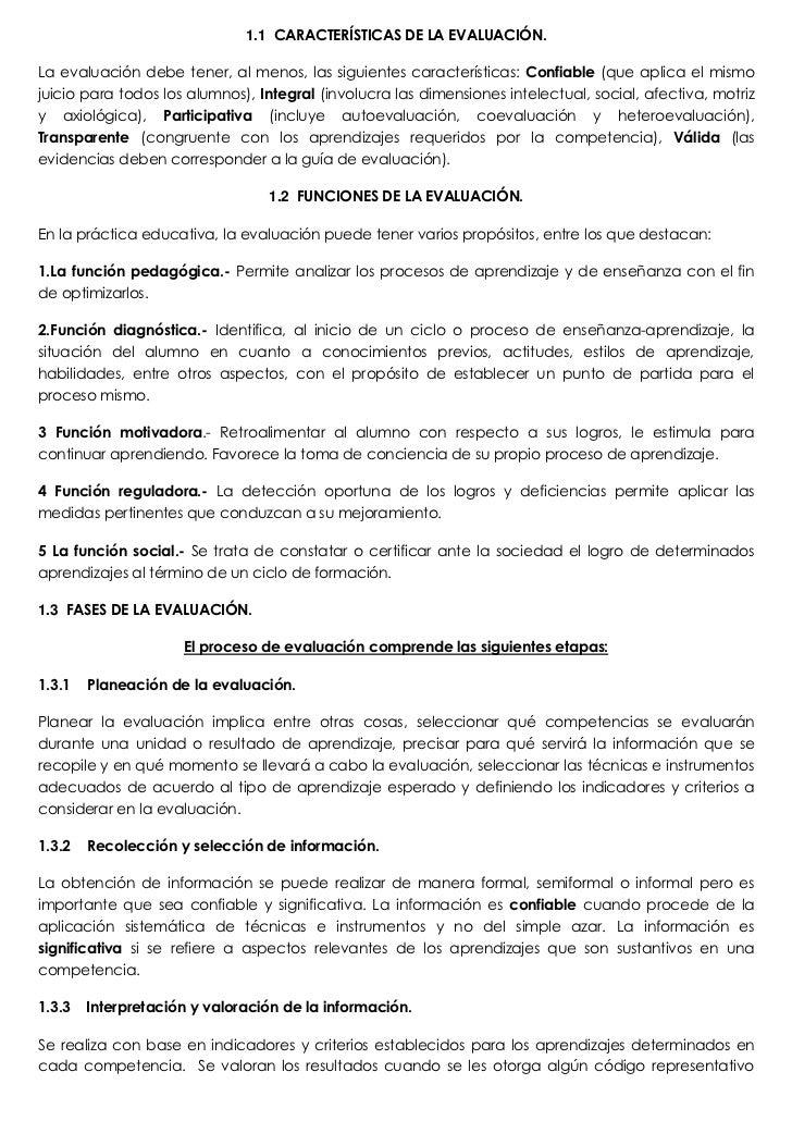 CARACTERÍSTICAS DE LA EVALUACIÓN.<br />La evaluación debe tener, al menos, las siguientes características: Confiable (que ...