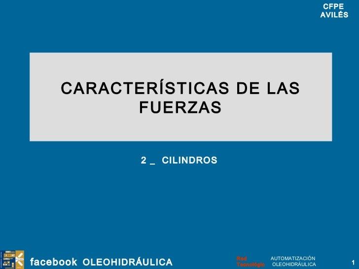 CARACTERÍSTICAS DE LAS FUERZAS 2 _  CILINDROS