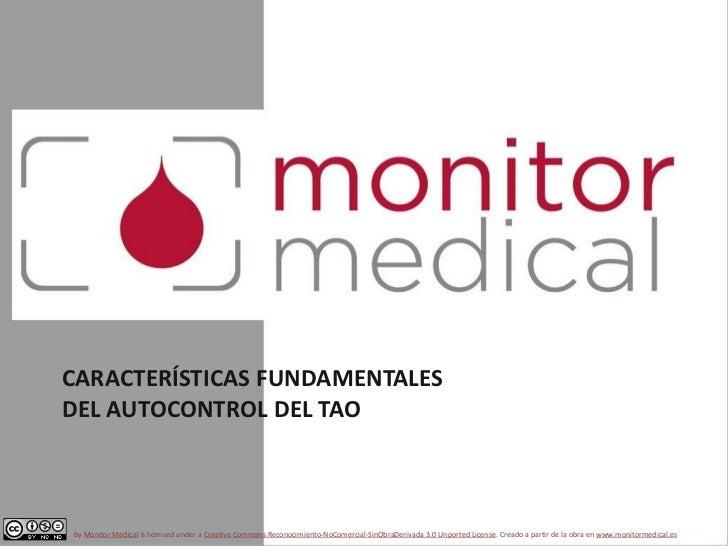 Sintrom. Características del autocontrol del tratamiento anticoagulante oral