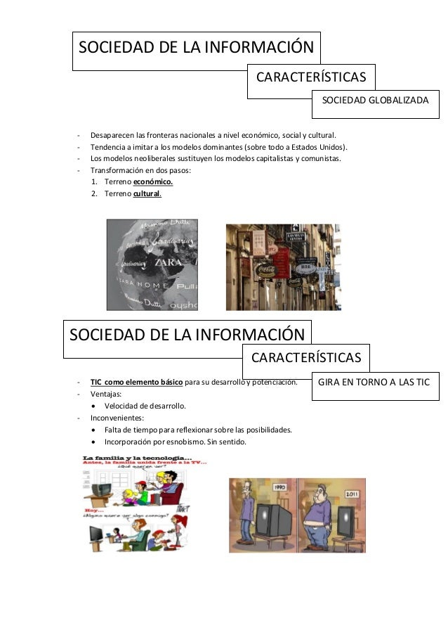 SOCIEDAD DE LA INFORMACIÓN                                                   CARACTERÍSTICAS                              ...