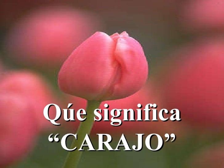 "Qúe significa ""CARAJO"""