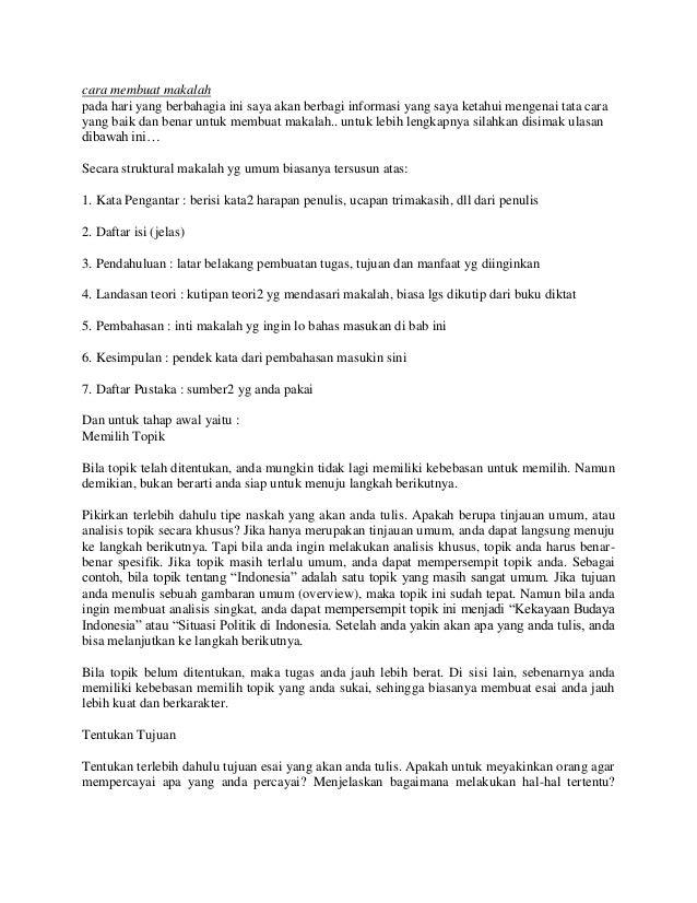 Cara membuat makalah