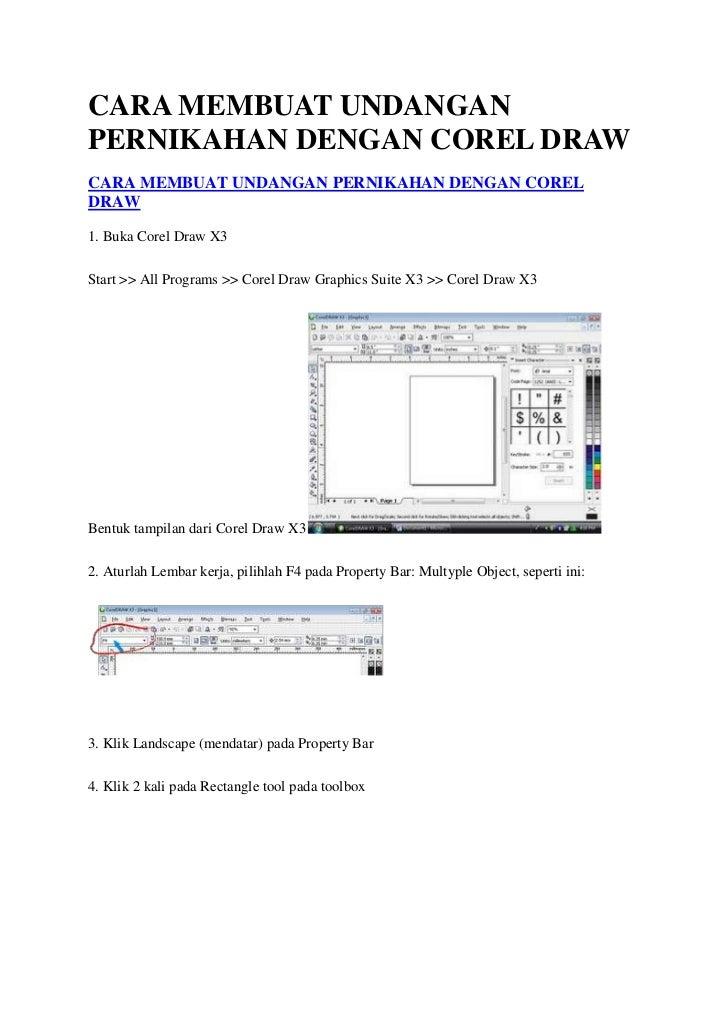 Download image Cara Membuat Undangan Pernikahan Dengan Corel Draw PC ...