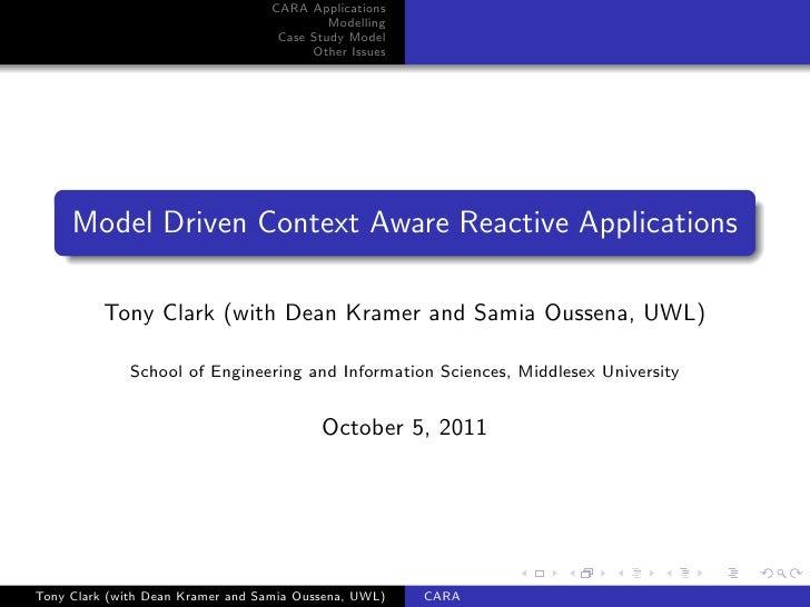 Context Aware Reactive Applications
