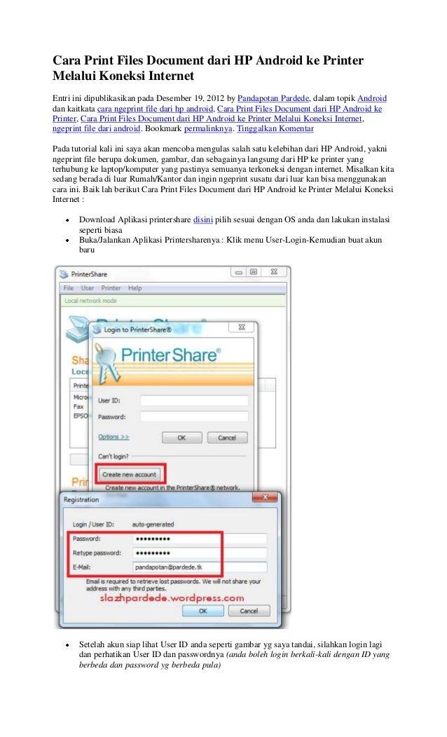 Cara print files document dari hp android ke printer ...