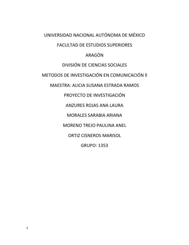 UNIVERSIDAD NACIONAL AUTÓNOMA DE MÉXICO            FACULTAD DE ESTUDIOS SUPERIORES                        ARAGÓN          ...