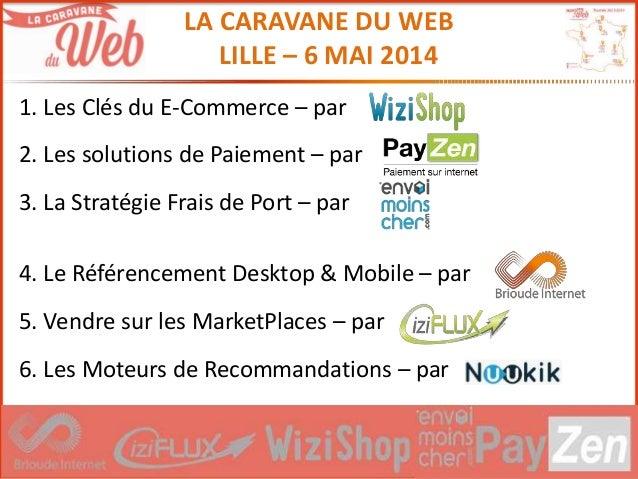 # C D W LA CARAVANE DU WEB LILLE – 6 MAI 2014 1. Les Clés du E-Commerce – par 2. Les solutions de Paiement – par 3. La Str...