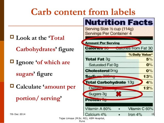 Carbohydrate Counting for insulin dose adjustment