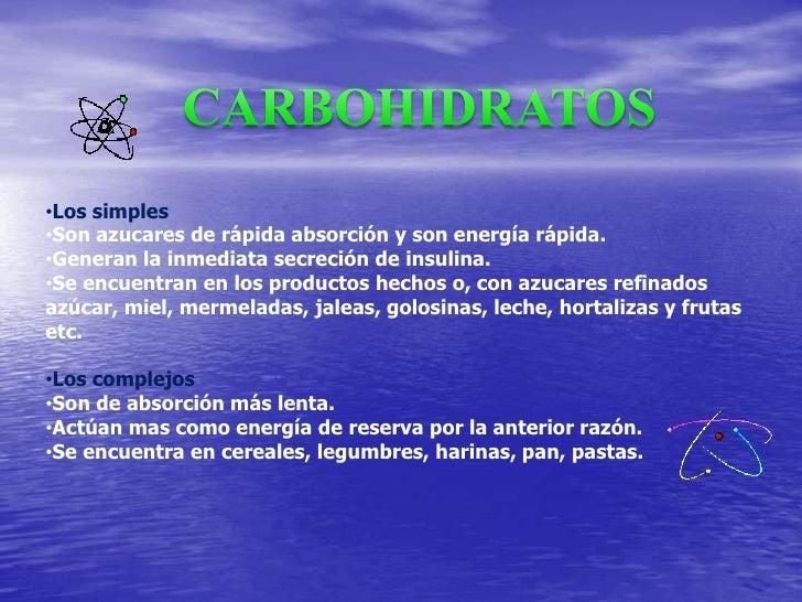 CARBOHIDRATOS<br /><ul><li>Los simples