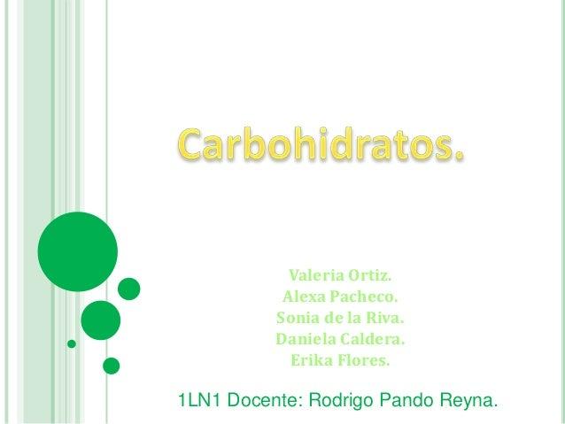 Carbohidratos. (1)