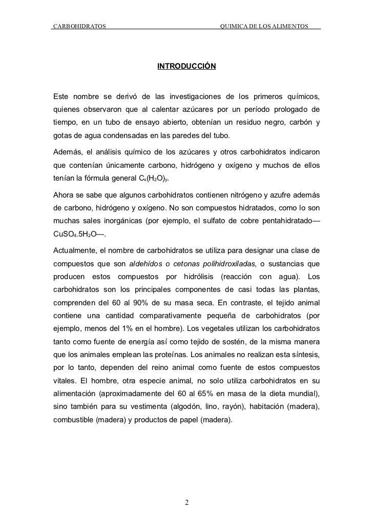 Carbohidratos en la quimica de los alimentos for La quimica y la cocina pdf