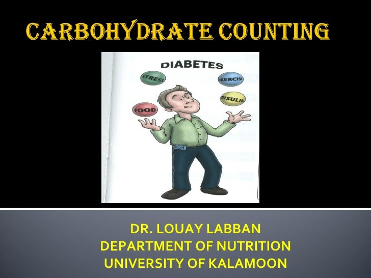 DR. LOUAY LABBAN DEPARTMENT OF NUTRITION UNIVERSITY OF KALAMOON