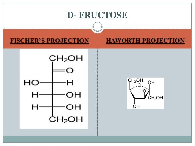 D Fructose Fischer Projection Carbohydrates