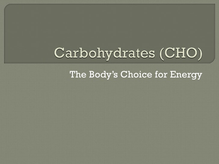 The Body's Choice for Energy