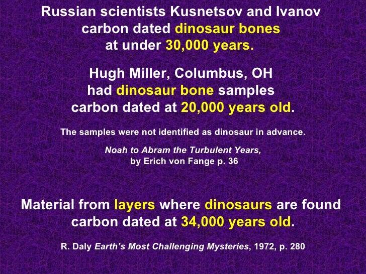 Oldest carbon dating dinosaur bones