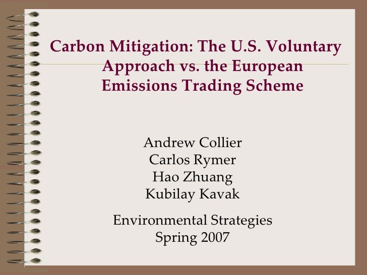 Carbon Strategies in the U.S. 2001-2009