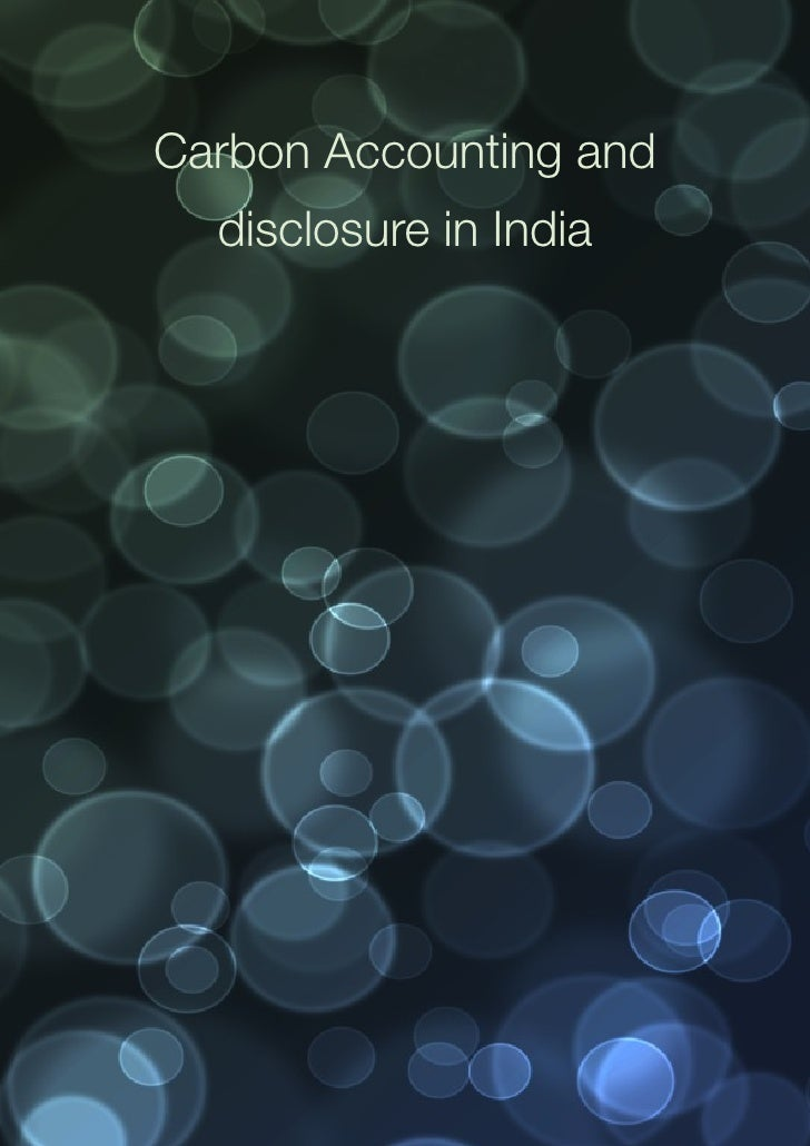 Carbon Accounting and disclosure in India_________________________________________________________________________________...