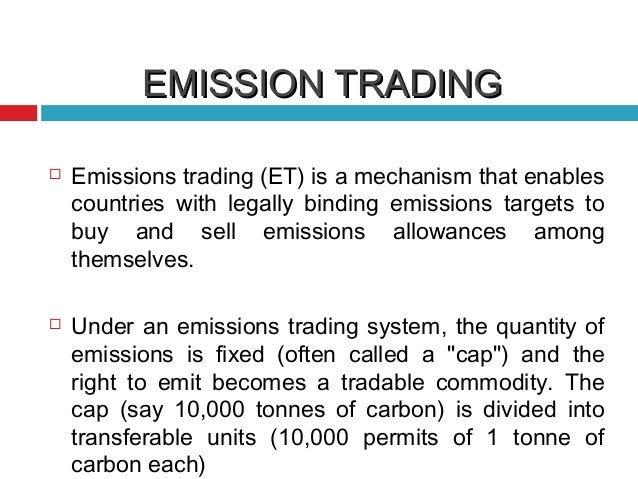 Carbon emissions trading system
