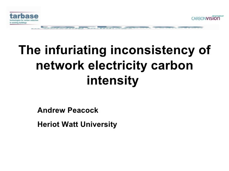 Carbon Electrical Intensities | Andrew Peacock