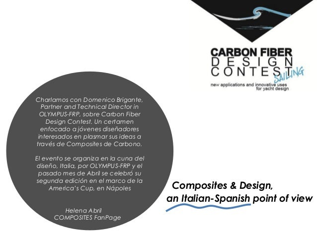 Composites & Design,an Italian-Spanish point of viewCharlamos con Domenico Brigante,Partner and Technical Director inOLYMP...