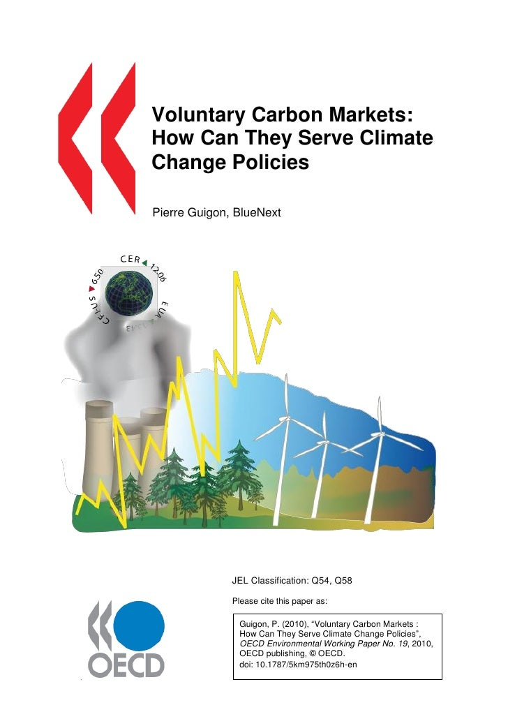 Voluntary Carbon Markets:How Can They Serve ClimateChange PoliciesPierre Guigon, BlueNext              JEL Classification:...
