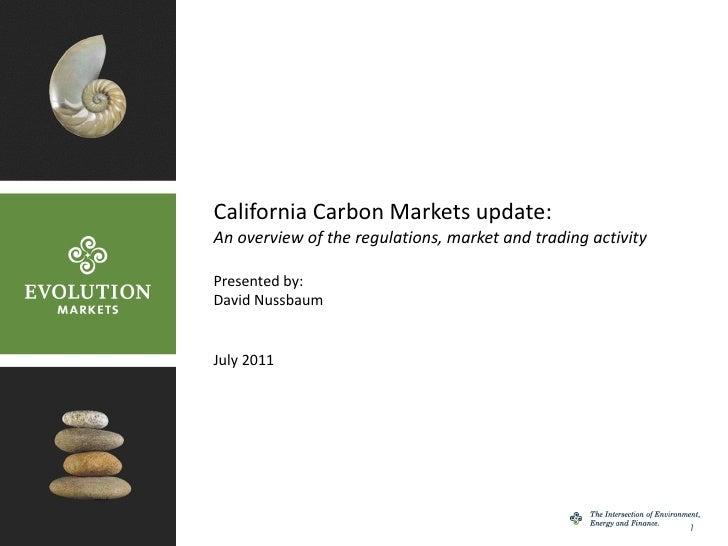 Car California Carbon Markets July 2011 Final