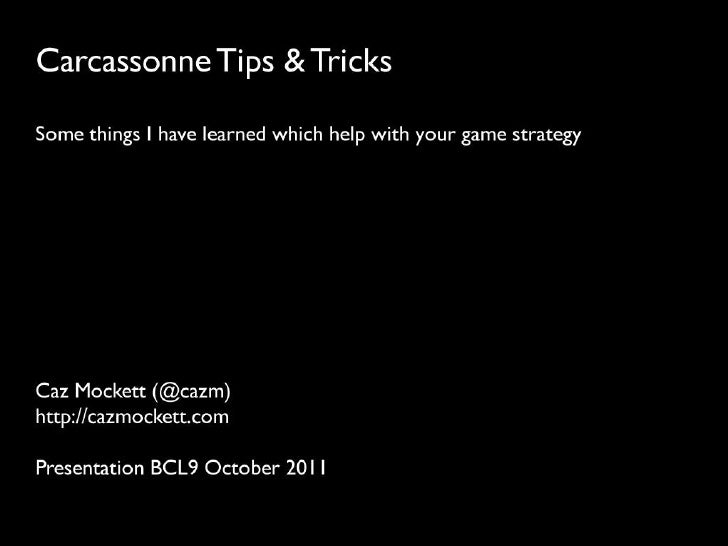 Carcassonne Tips & Tricks