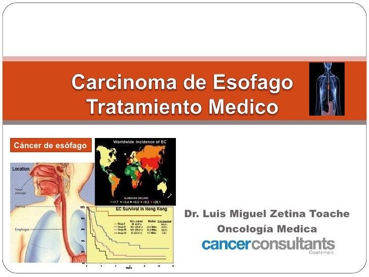 Cáncer de esófago                    Dr. Luis Miguel Zetina Toache                          Oncología Medica              ...