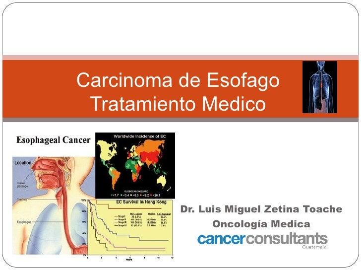 Carcinoma de Esofago Tratamiento Medico          Dr. Luis Miguel Zetina Toache                Oncología Medica            ...