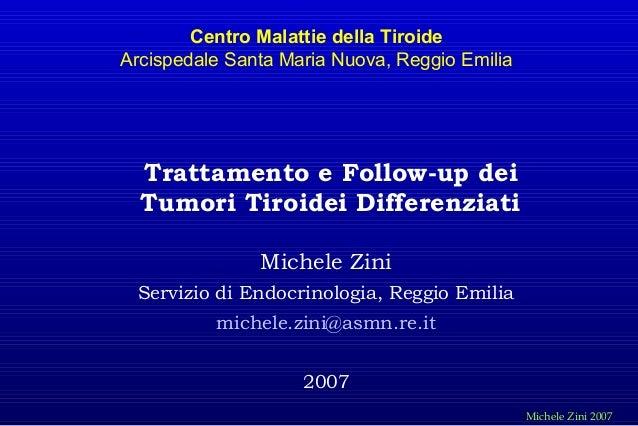 Carcinoma tiroideo   trattamento e follow-up