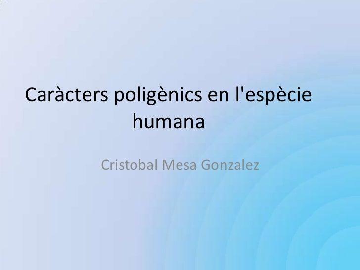 Caràcters poligènics en lespècie            humana        Cristobal Mesa Gonzalez
