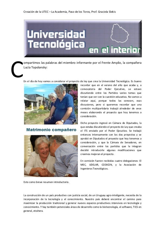 Universidad Tecnológica en el interior del país