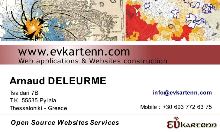 www.evkartenn.com   Web applications & Websites constructionArnaud DELEURMETsaldari 7B                            info@evk...