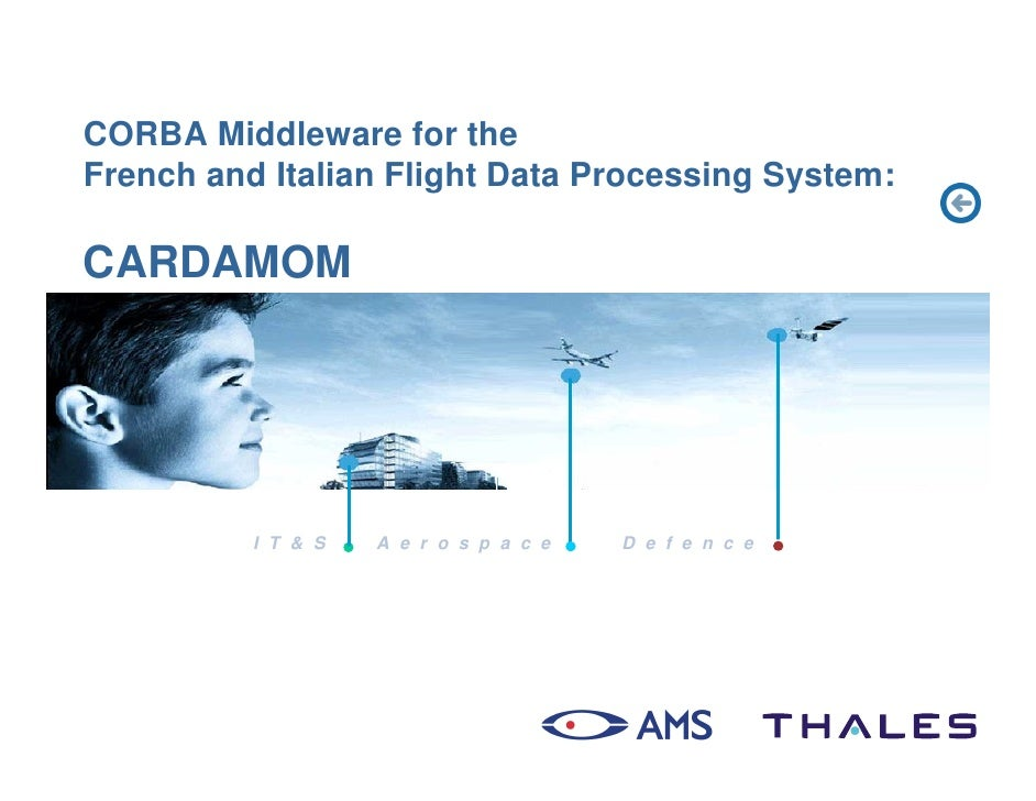 CORBA Middleware for the French and Italian Flight Data Processing System:  CARDAMOM               I T & S   A e r o s p a...