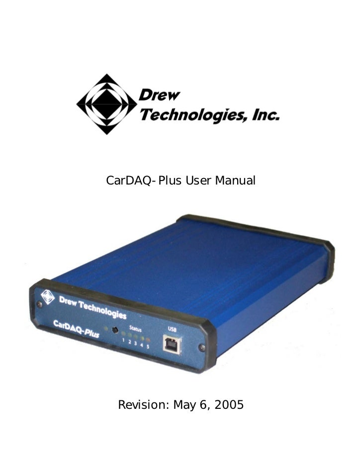 CarDAQ-Plus User Manual Revision: May 6, 2005