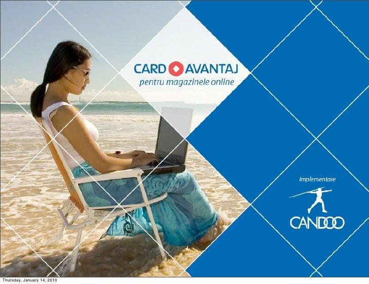 Card Avantaj pentru magazinele online